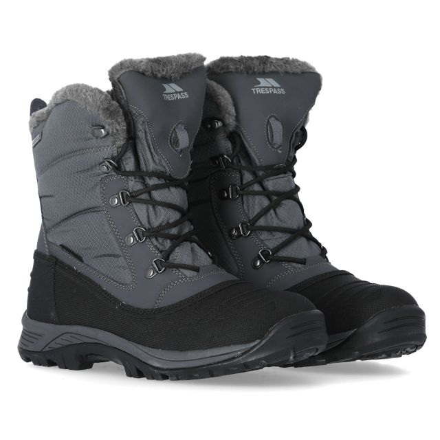 Negev II Men's Fleece Lined Snow Boots in Grey