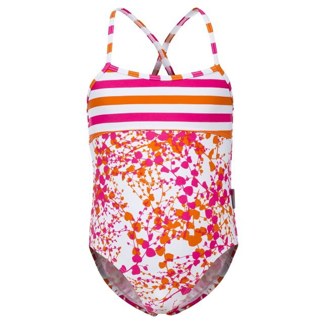 Nettie Kids' Swimming Costume in White