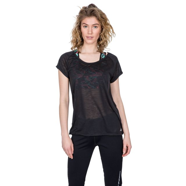 Newby Women's Quick Dry Active T-Shirt in Black