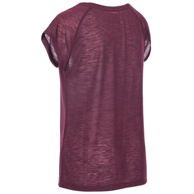 Newby Women's Quick Dry Active T-Shirt in Purple