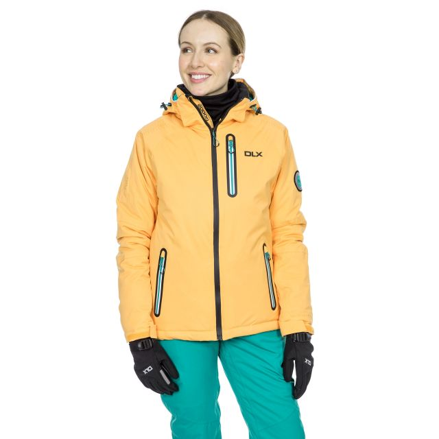 Nicolette Women's DLX Hi Tech Ski Jacket in Orange