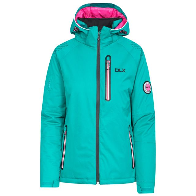 Nicolette Women's DLX Hi Tech Ski Jacket in Green