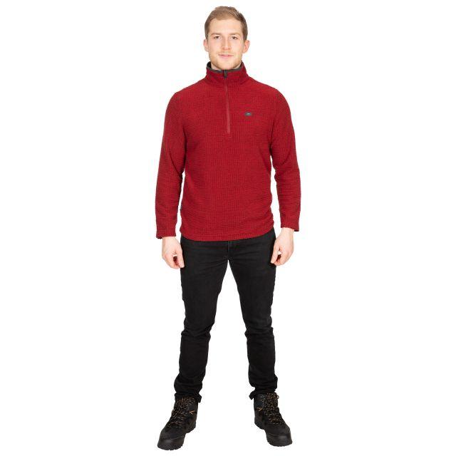 Nillsee Men's 1/2 Zip Fleece in Red