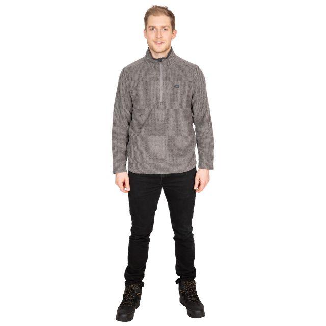 Nillsee Men's 1/2 Zip Fleece in Grey