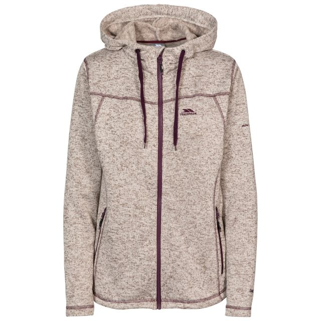 Odelia Women's Fleece Hoodie in Beige