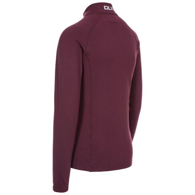 Odette Women's DLX 1/2 Zip Long Sleeve Active Top in Purple