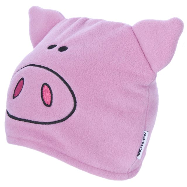 Oinky Kids' Novelty Beanie Hat in Light Pink