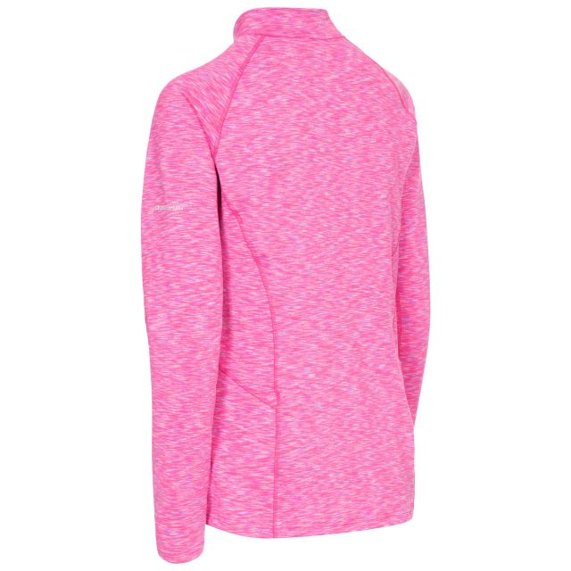 Olina Women's 1/2 Zip Long Sleeve Active Top in Pink