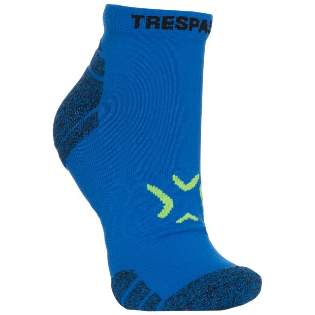 Olrun Men's Non Slip Trainer Socks in Blue