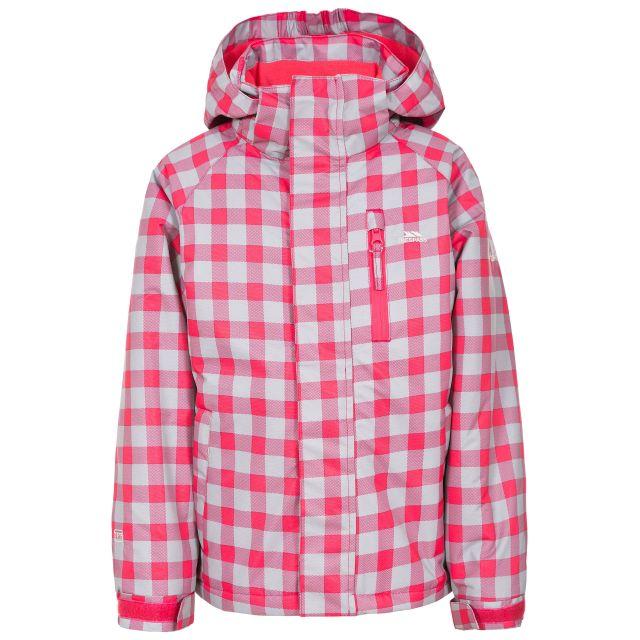 Olsen Kids Ski Suit in Pink, Front view on mannequin