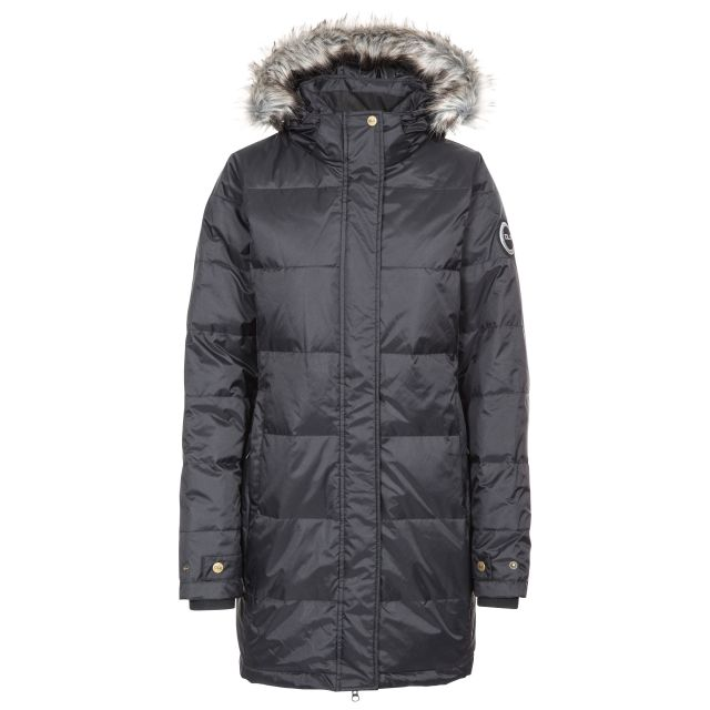 Ophelia Women's DLX Waterproof Down Parka Jacket in Black