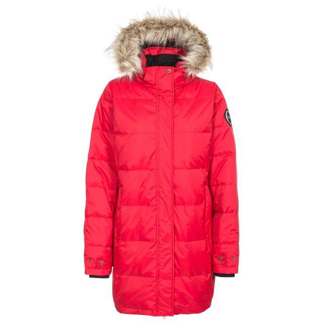 DLX Womens Down Parka Jacket Waterproof Ophelia in Red