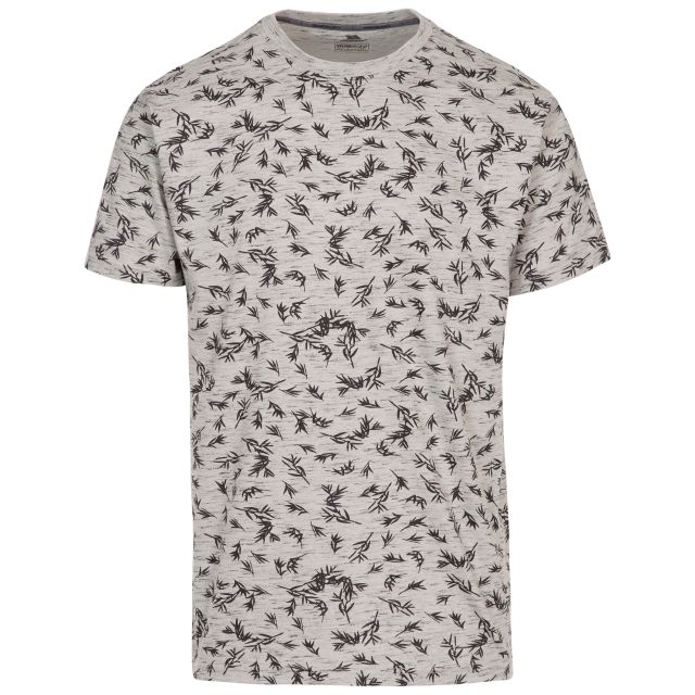 Orsen Men's Printed T-Shirt in Light Grey