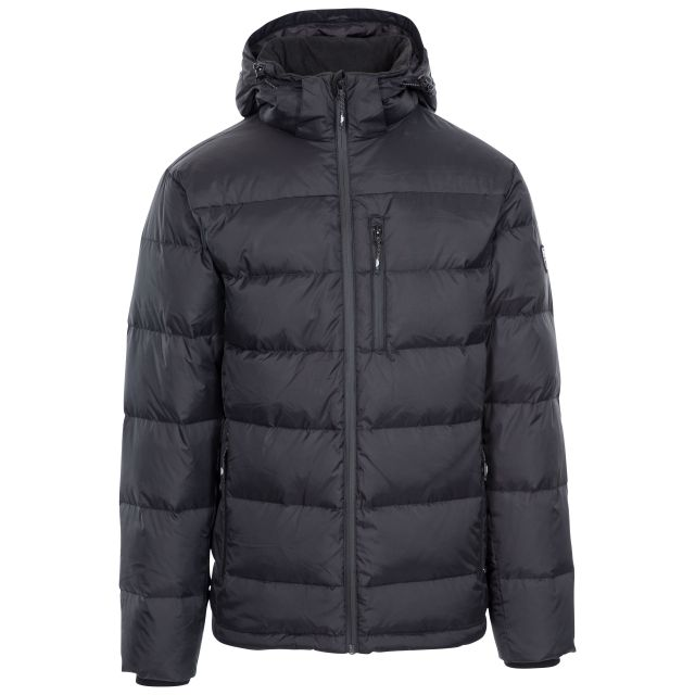 Orwell Men's Hooded Down Jacket in Black