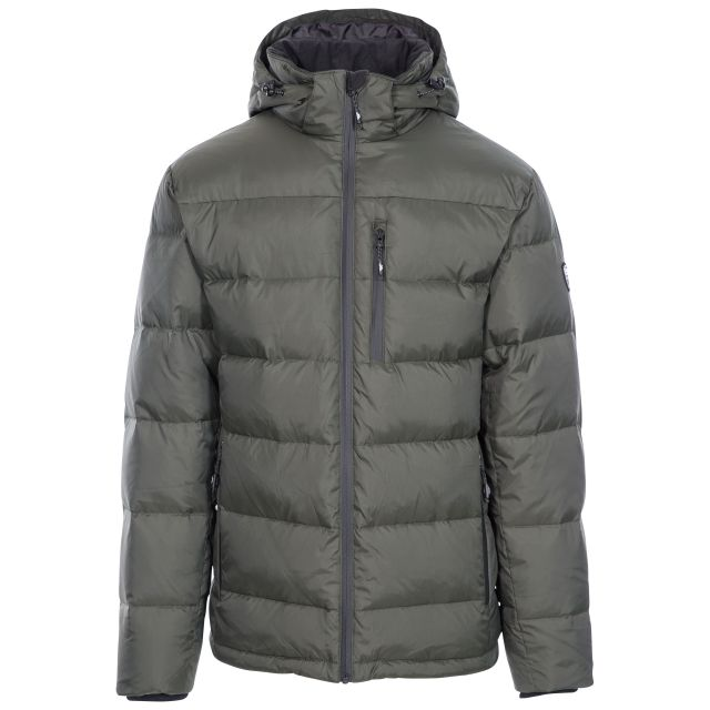 Orwell Men's Hooded Down Jacket in Khaki