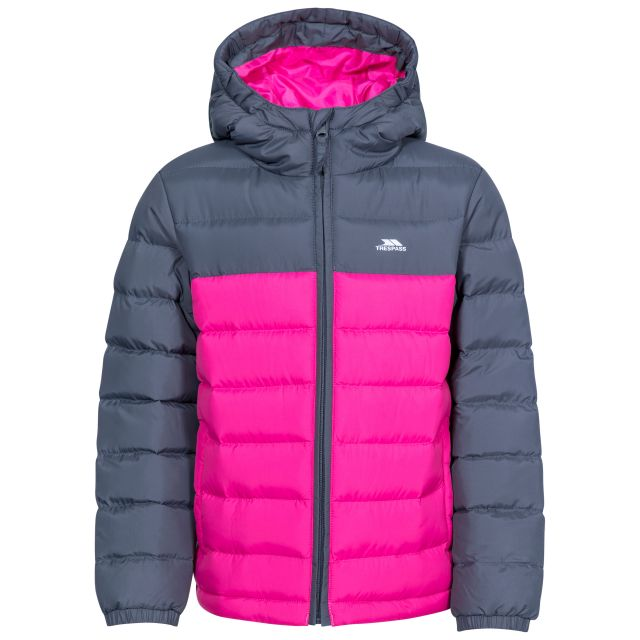 Oskar Kids' Padded Casual Jacket in Pink