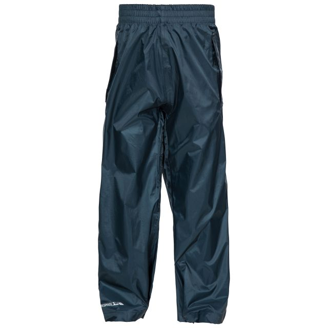 Packa Kids' Packaway Waterproof Trousers in Navy