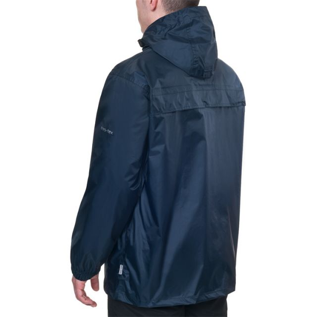 Packa Unisex Waterproof Packaway Jacket in Navy