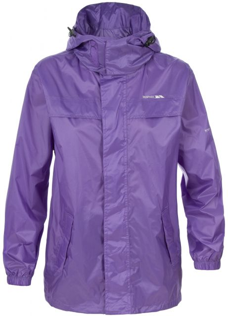 Packa Kids' Waterproof Packaway Jacket in Light Purple