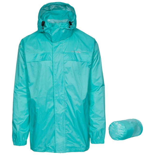 Packa Adults' Waterproof Packaway Jacket in Light Blue