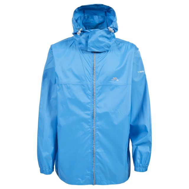 Packup Adults' Waterproof Packaway Jacket in Blue