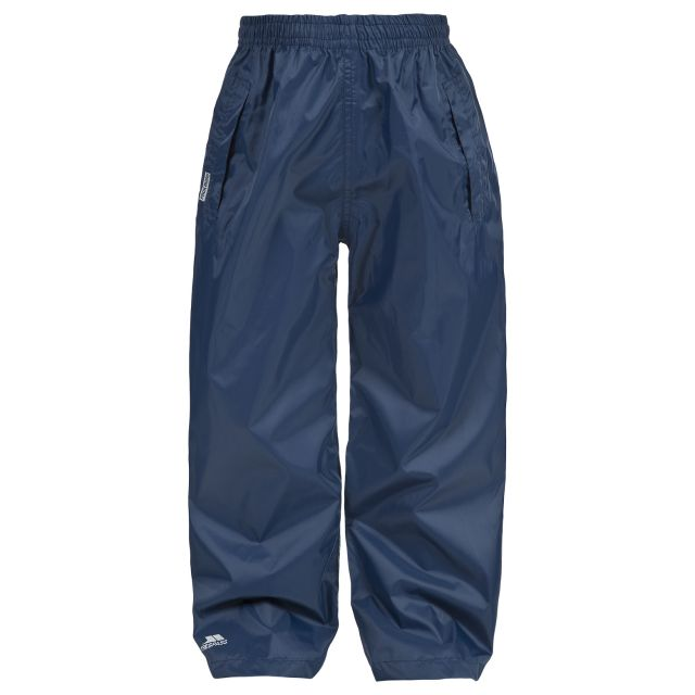 Packup Kids' Packaway Waterproof Trousers in Navy