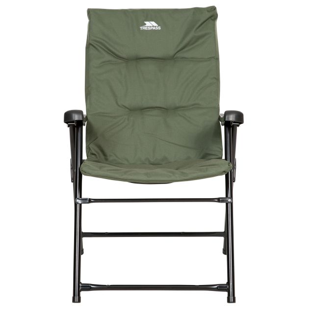 Trespass Folding Padded Camping & Garden Deck Chair Paddy in Olive