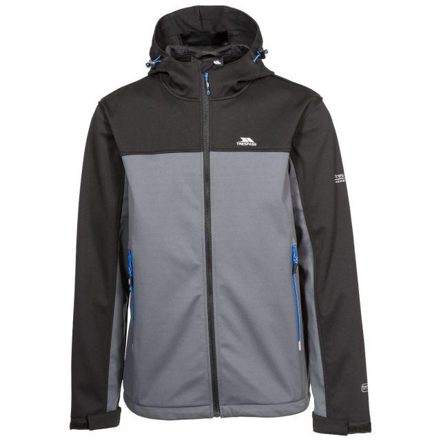 Palin Men's Hooded Softshell Jacket in Black