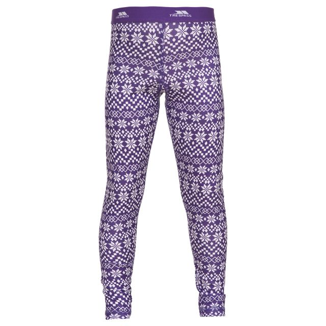 Pax Kids Base Layer Pants in Purple