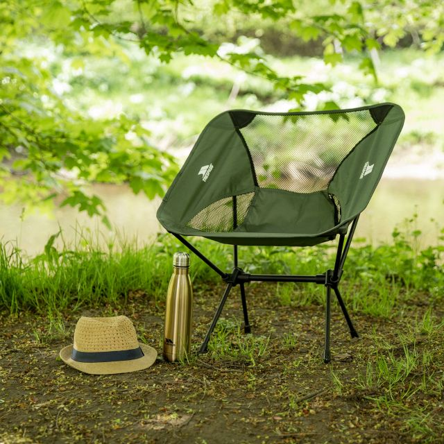 Trespass Lightweight Folding Chair 1.5kg Perch in Khaki