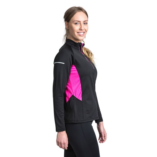 Persin II Women's Antibacterial Long Sleeve Active Top - BLK