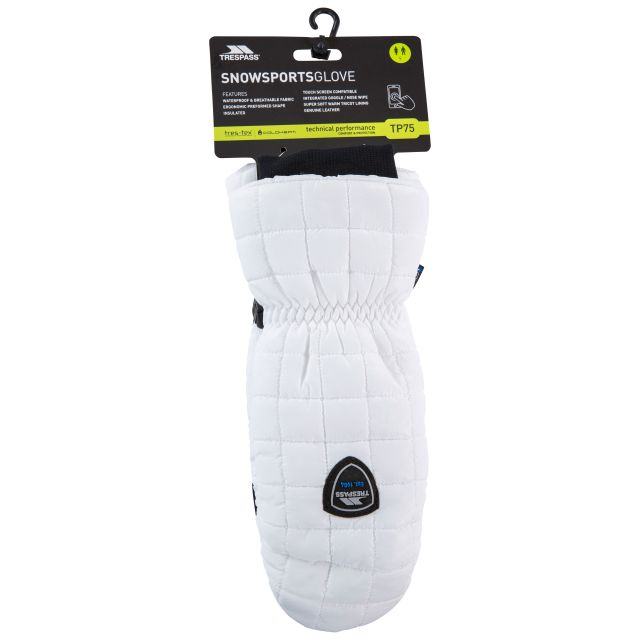 Pikido Unisex Waterproof Mittens in White