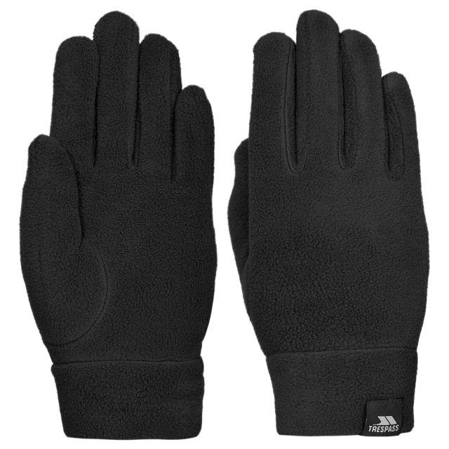 Trespass Kids Fleece Glove in Black Plummet II