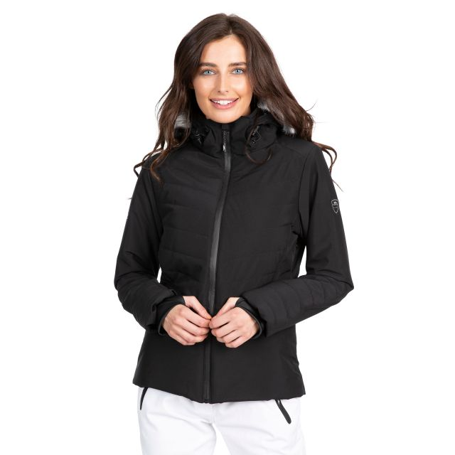 Trespass Womens Ski Jacket Waterproof Poise in Black