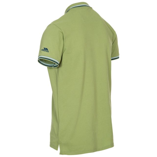Polobrook Mens Polo Shirt in Green