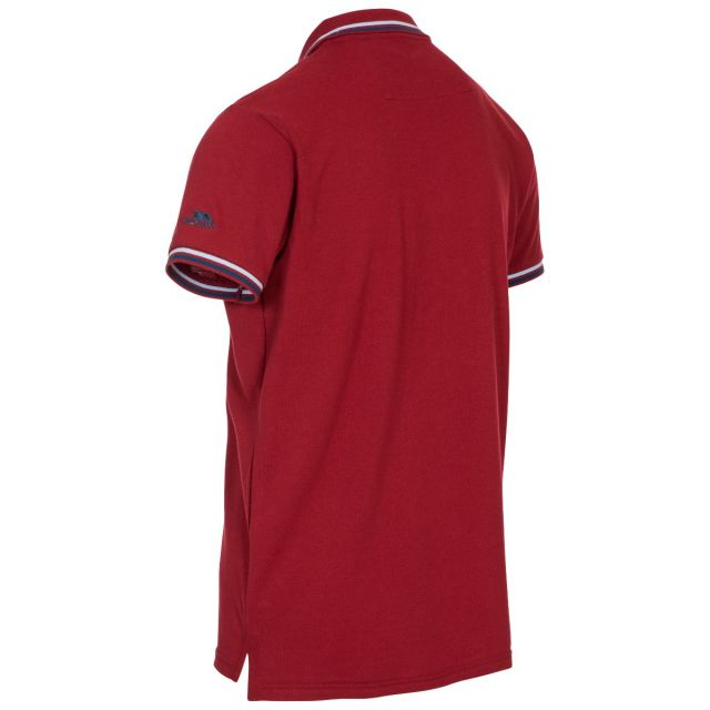 Polobrook Mens Polo Shirt in Red