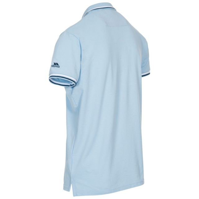 Polobrook Mens Polo Shirt in Light Blue