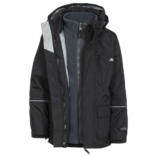 Prime II Kids' 3-in-1 Waterproof Jacket in Black