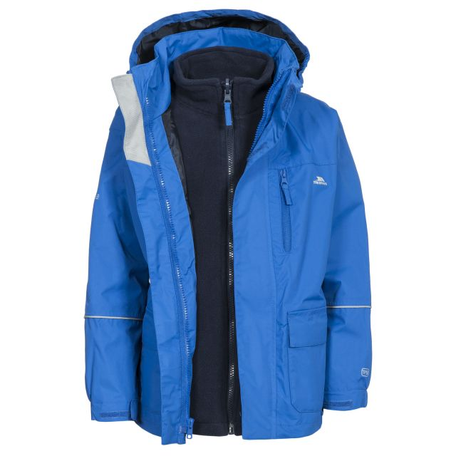 Prime II Kids' 3-in-1 Waterproof Jacket in Blue