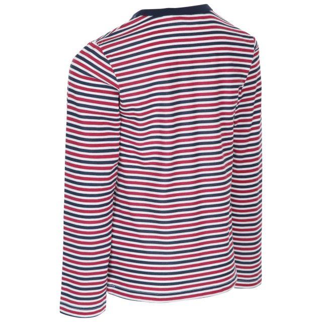Trespass Kids Long Sleeve top Round Neck Stripe Proceeds Navy