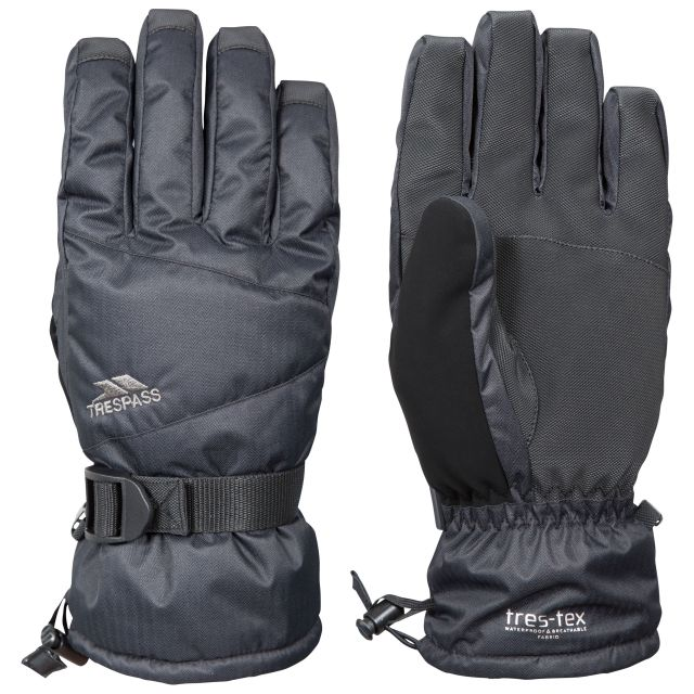 Punch Unisex Ski Gloves in Black