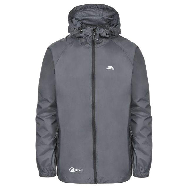 Qikpac Unisex Waterproof Packaway Jacket in Grey