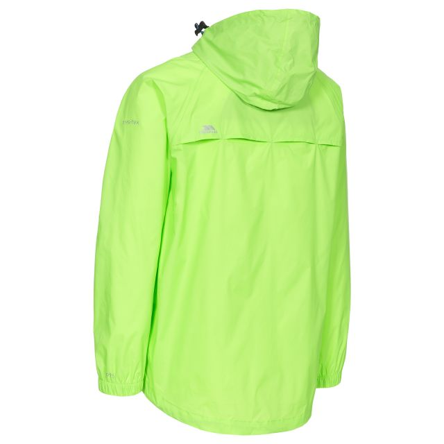 Qikpac Unisex Waterproof Packaway Jacket in Neon Green