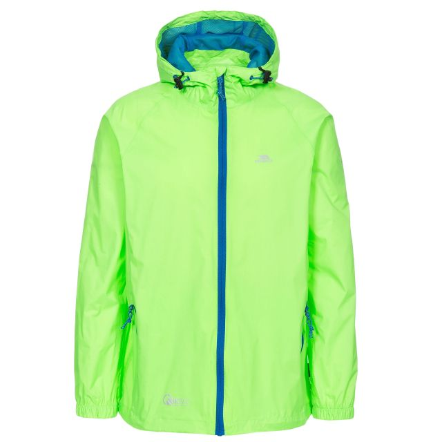 Qikpac Kids' Waterproof Packaway Jacket in Neon Green