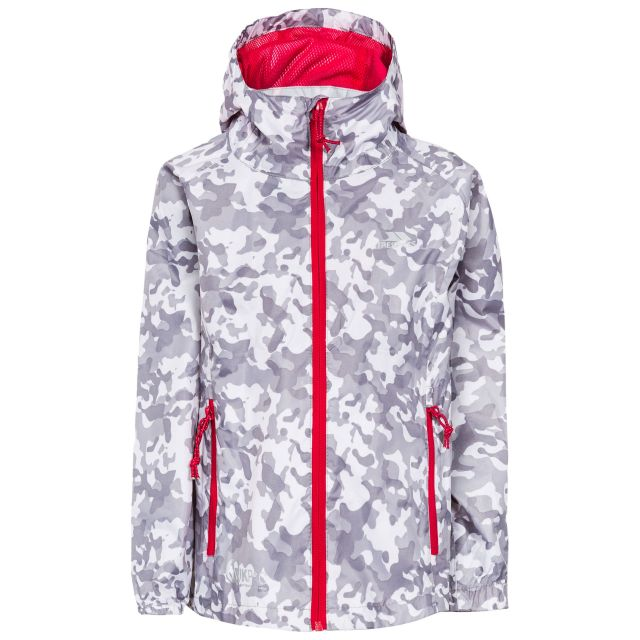 Qikpac Kids' Printed Packaway Jacket in White