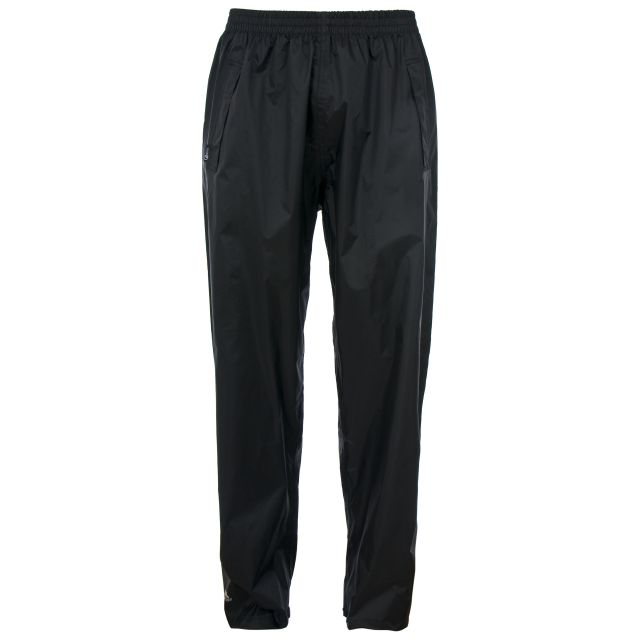 Qikpac Unisex Packaway Waterproof Trousers in Black