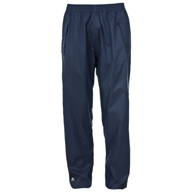 Qikpac Unisex Packaway Waterproof Trousers in Navy