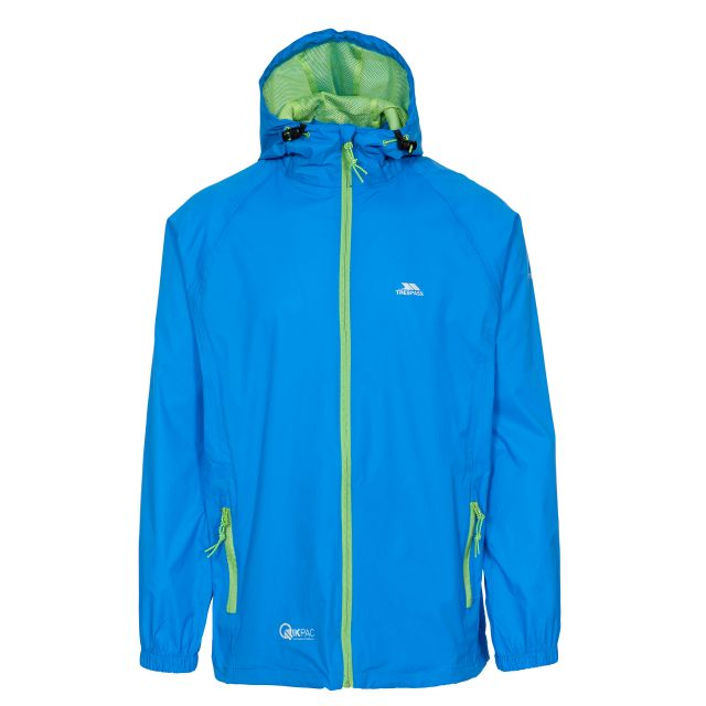 Qikpac Unisex Waterproof Packaway Jacket in Blue