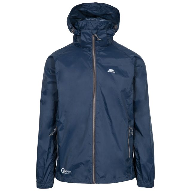 Qikpac X Unisex Waterproof Packaway Jacket in Navy
