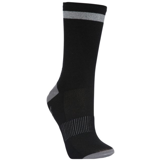 Radiate Unisex Reflective Walking Socks in Black